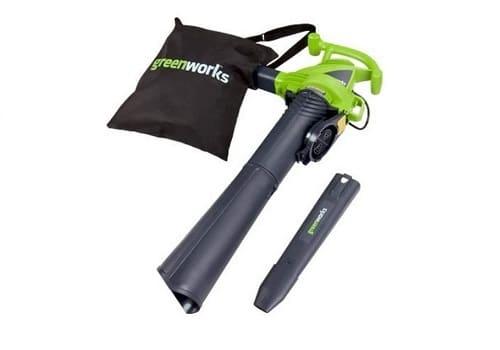 Greenworks 12 Amp Electric Leaf Blower Vacuum