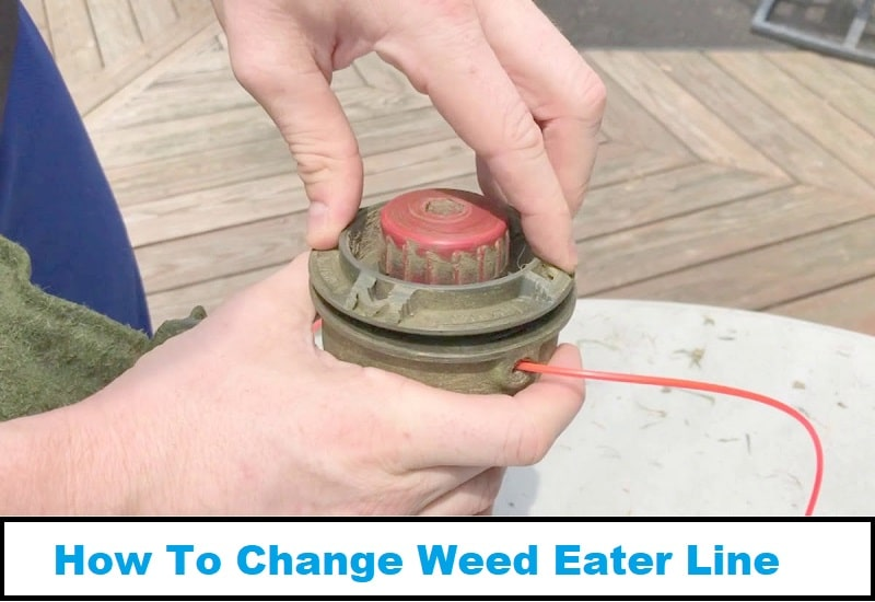 how to change weed eater line
