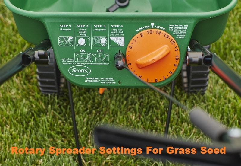 rotary spreader settings for grass seed